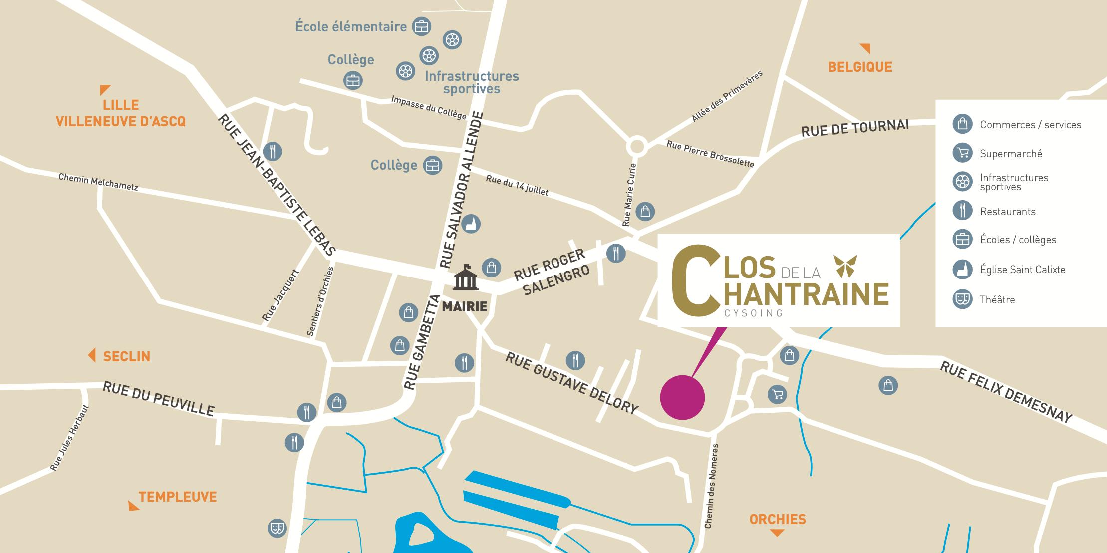 Google Map : LE CLOS DE LA CHANTRAINE